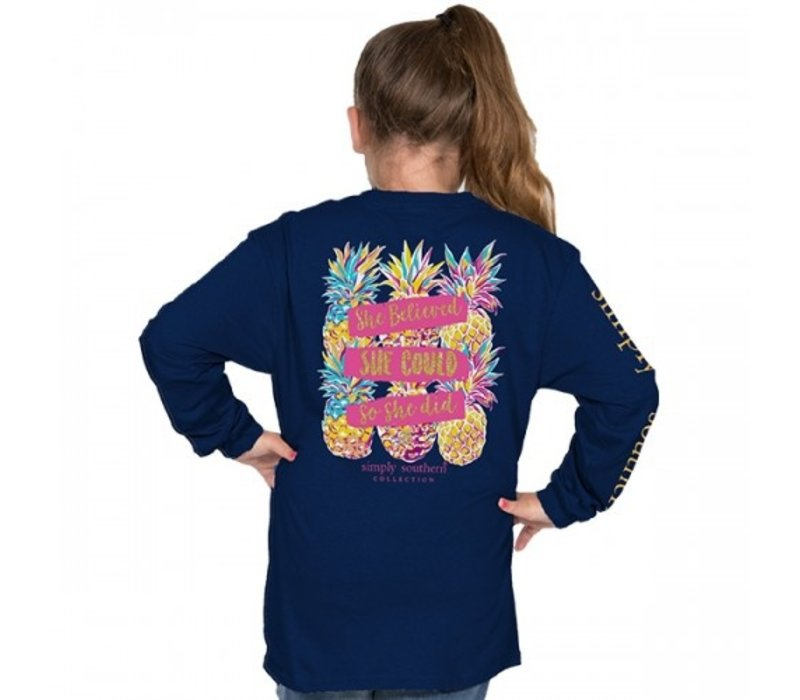 She Believed She Could- Youth Long Sleeve