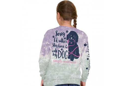 SIMPLY SOUTHERN I'd Rather Walk My Dog- Long Sleeve