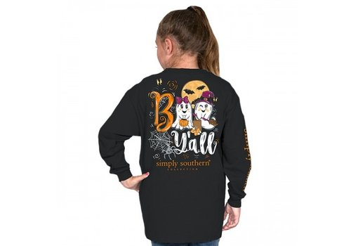 SIMPLY SOUTHERN Boo Y'all- Youth Long-Sleeve
