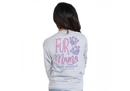 SIMPLY SOUTHERN Fur Mama- Long-Sleeve