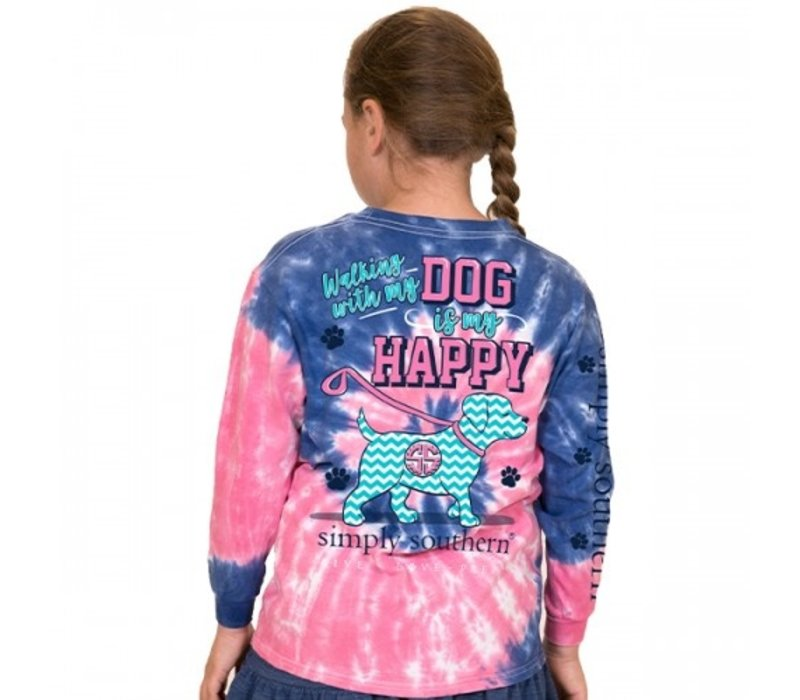 Walking With My Dog- Youth Long-Sleeve