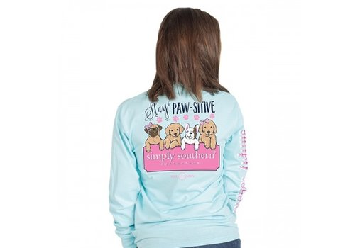 SIMPLY SOUTHERN Stay Pawstive- Youth Long-Sleeve