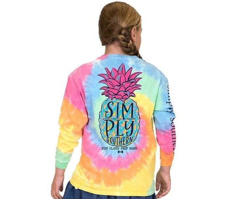 Pineapple TieDye- Youth Long-Sleeve