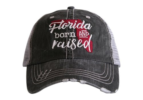 katydid Florida Born and Raised- Burnt Red- Hat