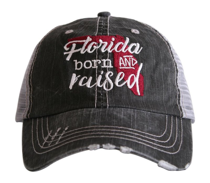Florida Born and Raised- Burnt Red- Hat