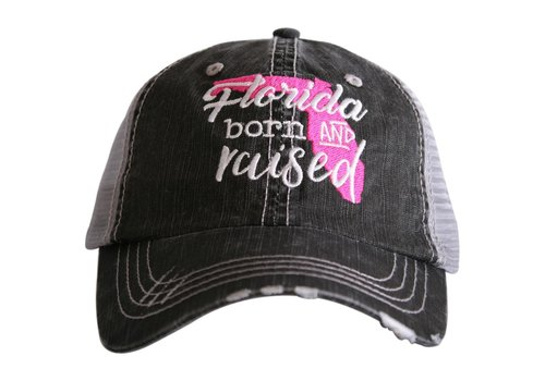 katydid Florida Born and Raised- Pink- Hat