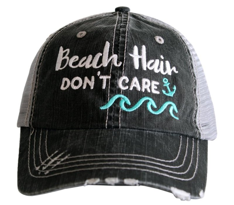 Beach Hair Don't Care-Anchor-Hat