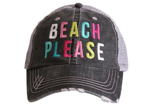 katydid Beach Please- Colorful- Hat
