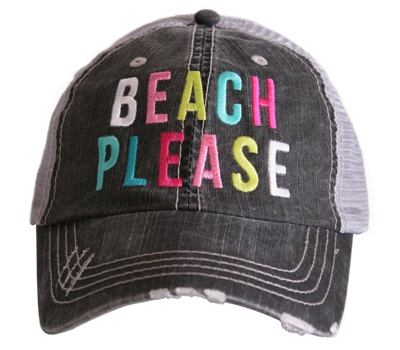 Beach Please- Colorful- Hat