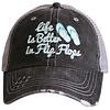 katydid Life is Better in Flip Flops- Hat
