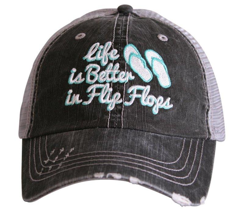 Life is Better in Flip Flops- Hat