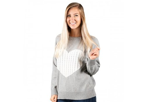 SIMPLY SOUTHERN Heart Sweater