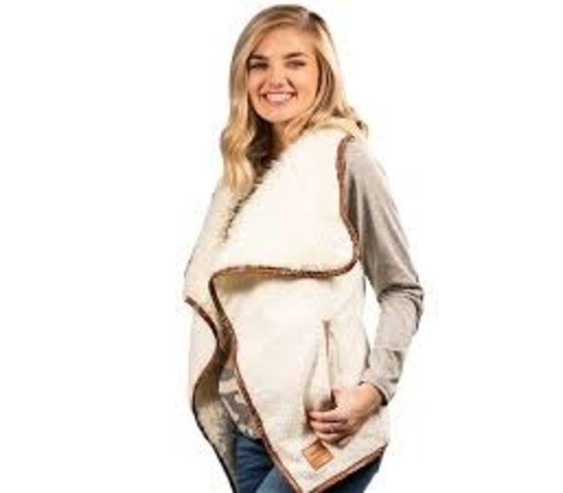 Sherpa Vest- Cream