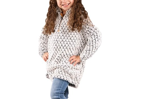 SIMPLY SOUTHERN Simply Fuzzy- Heather Gray- YOUTH