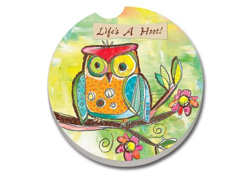 Life's a Hoot Car Coaster