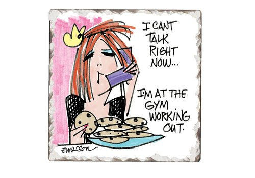 At the Gym Tile Coaster