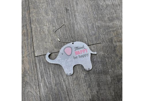 Think Happy Elephant  Car Charm