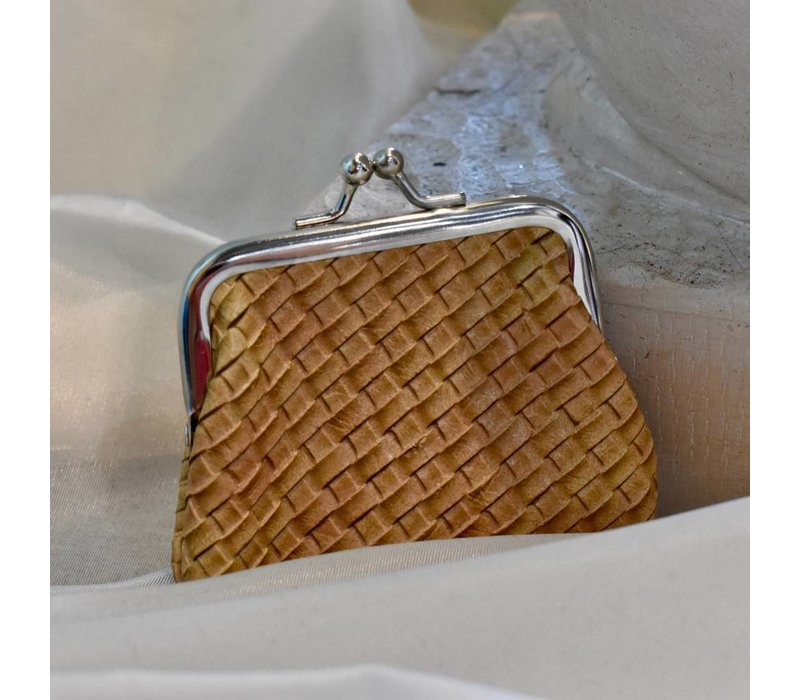 Basket Weave Coin Purse