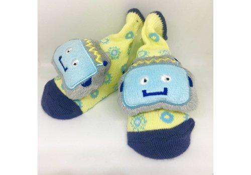 Baby Dumpling Robot Socks