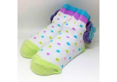 Baby Dumpling Crocheted Flower Socks