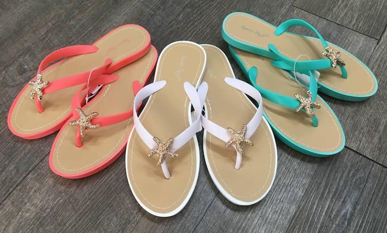 11a987885a0f Bling Starfish Flip-Flop Sandals