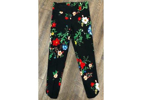 Zac & Rachel black floral ankle pants