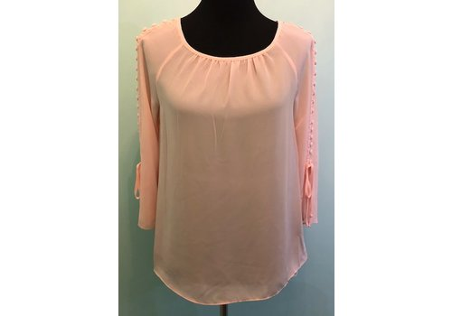 Pink Botton Detail Blouse