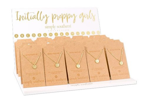 SIMPLY SOUTHERN Simply Southern Gold Tone Initial Necklaces