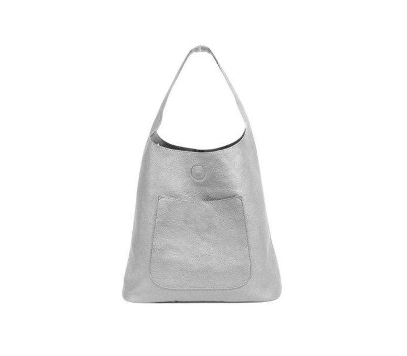 Molly Slouchy Hobo - Metallic Silver