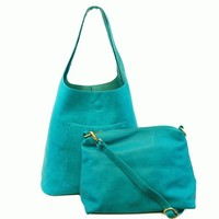 Molly Slouchy Hobo - Light Turquoise