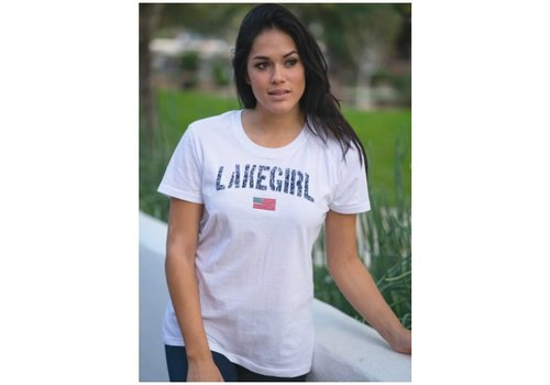 Lake Girl Relaxed Flag T-Shirt
