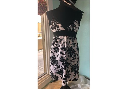 Black and White Pattern Summer Dress