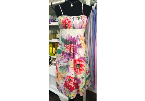 Bright floral summer dress