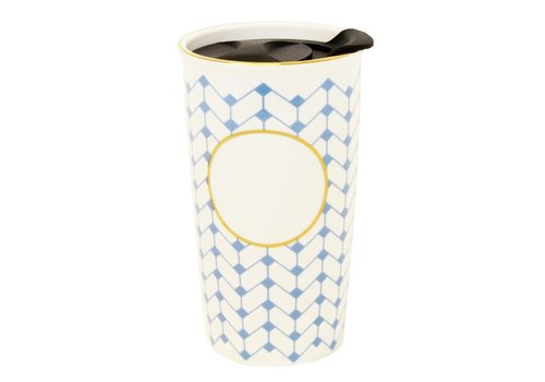 Ceramic monogram-ready travel coffee mug