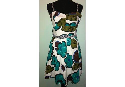 Aqua Floral Summer Dress