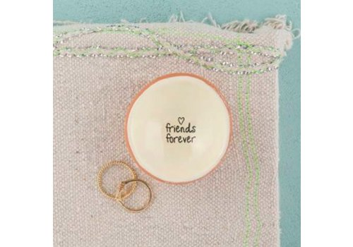 "natural life ""Fiends Forever"" cute jewelry dish"