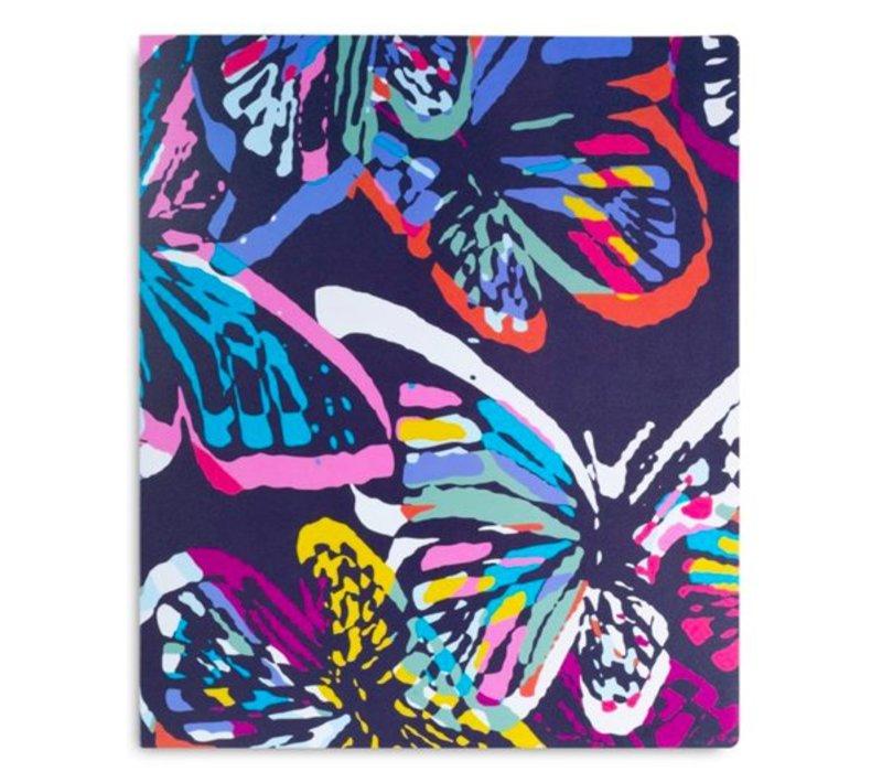 Vera Bradley 3 Ring Binder, Butterfly Flutter
