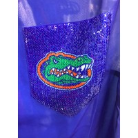 Florida and FSU Fan Sheer with Sequin Pocket Tee