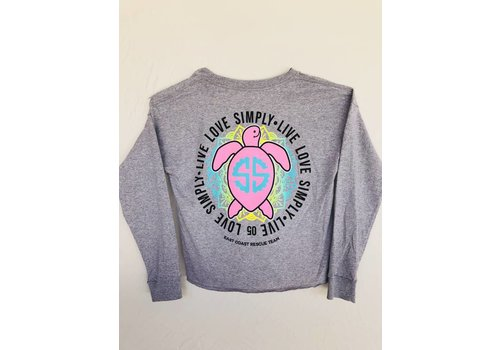 SIMPLY SOUTHERN Simply Southern Live Love Simply Long Sleeve Shortie Tee