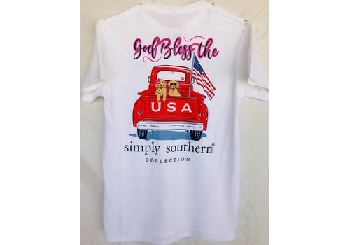 SIMPLY SOUTHERN Youth Simply Southern - God Bless the USA Tee