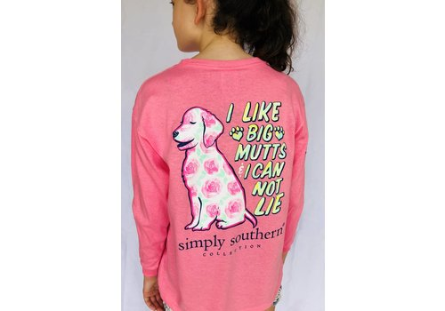 SIMPLY SOUTHERN Simply Southern Long Sleeved Pink Mutt Tee