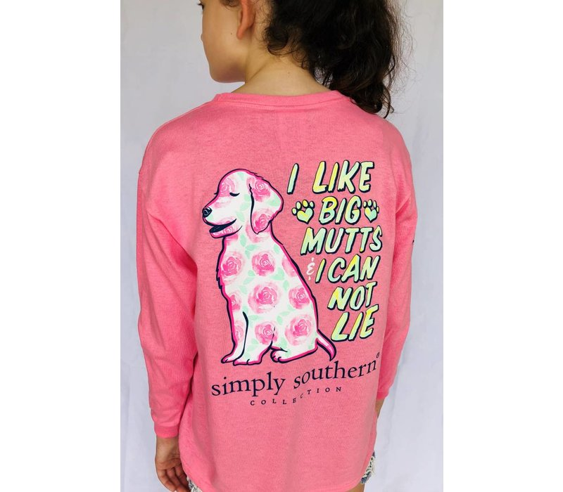 Simply Southern Long Sleeved Pink Mutt Tee