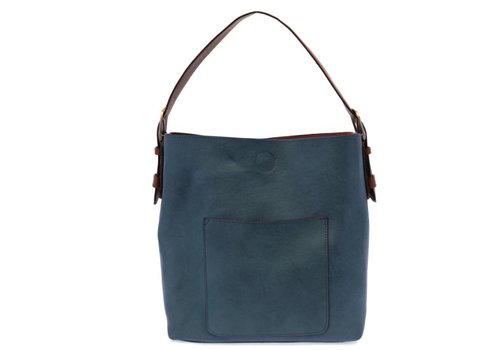 Dark Chambray Blue with Brown Hobo