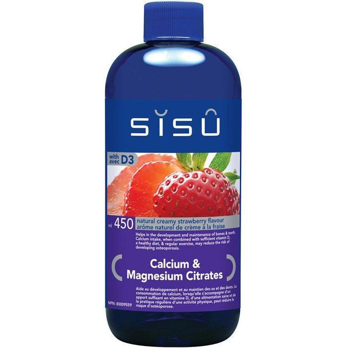 Calcium Magnesium cit liquide fraise 450 ml
