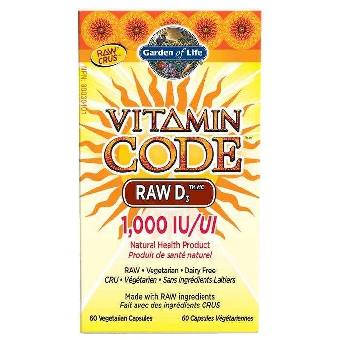 Vitamine D3 crue vegane 1000 UI 60 capsules
