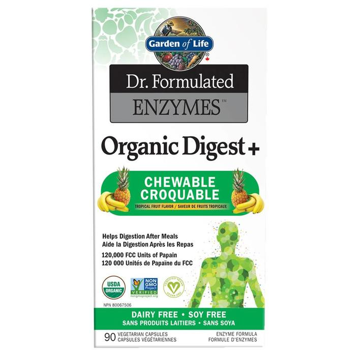 Enzymes Organic Digest+ 90 comprimes croquables