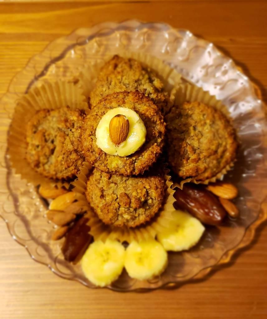 Muffins à la farine d'amande et bananes