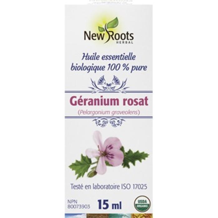 Huile essentielle bio Geranium rosat (Pelargonium graveolens) 15ml