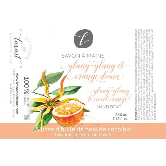 Savon à mains Ylang-Ylang et orange douce 260 ml