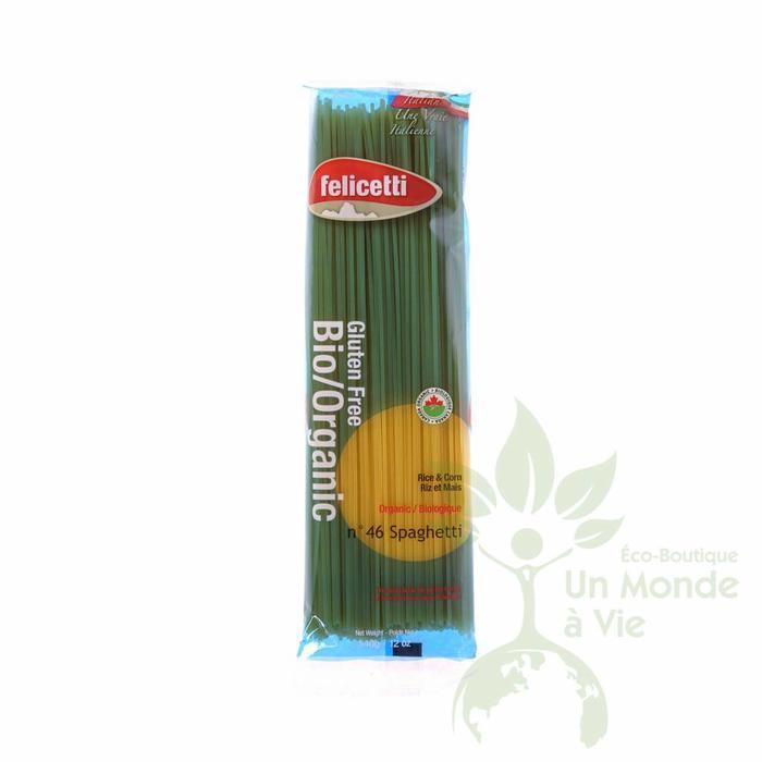 FELICETTI Spaghetti riz et mais bio 340g